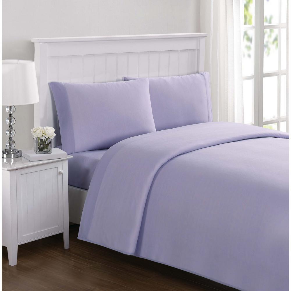 Everyday Solid Jersey Lavender Full Sheet Set