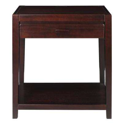 Notre Dame Espresso Nightstand with USB Port