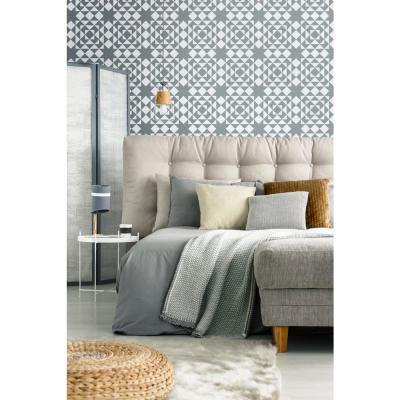 Art in Chaos Collection Conundrum in Stone Grey Removable and Repositionable Wallpaper