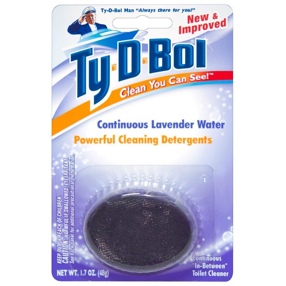 Ty-D-Bol 1.7 oz. Toilet Bowl Cleaner Lavender Scent Tablet (6-Pack)
