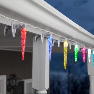20-Light ColorMotion ClipLights Icicle Light String