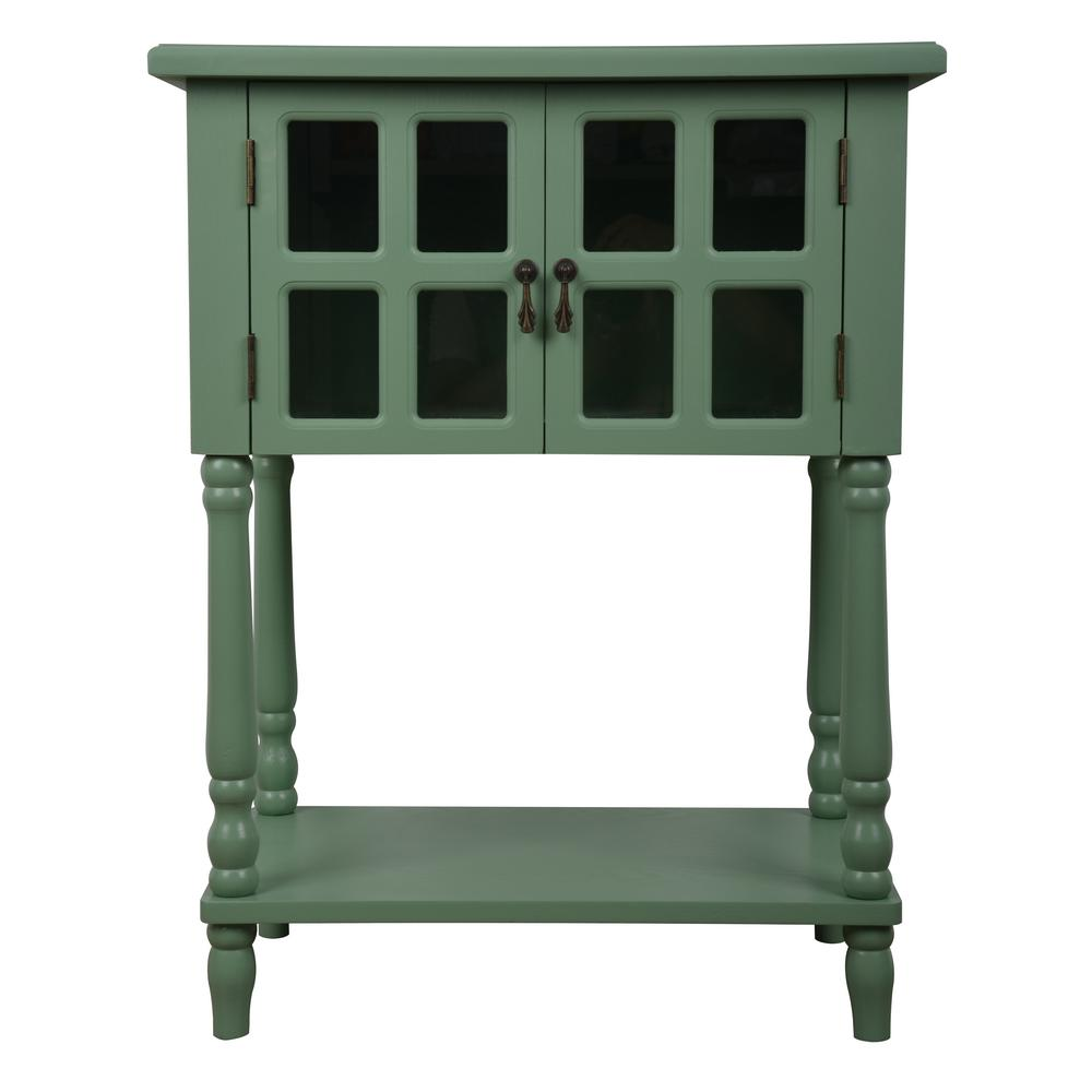Nora Moss Green Door Accent Table