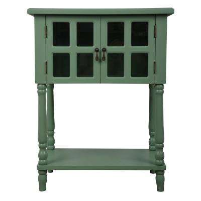 Genial Nora Moss Green Door Accent Table