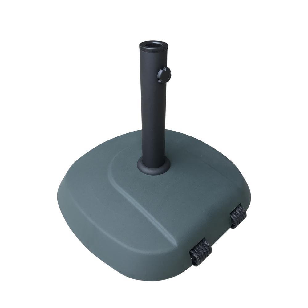 Anuta 60.63 lbs. Concrete Patio Umbrella Base in Dark Green