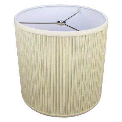 10 in. Top Diameter x 10 in. H x 10 in. Bottom Diameter Pleated Mushroom Bone Drum Lamp Shade