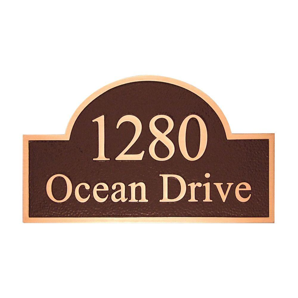 Michael Healy 15 in. x 8.75 ft. Stately Arch Authentic Solid Bronze Address Plaque-DISCONTINUED