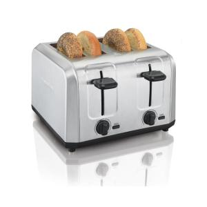4-Slice Stainless Steel Wide Slot Toaster