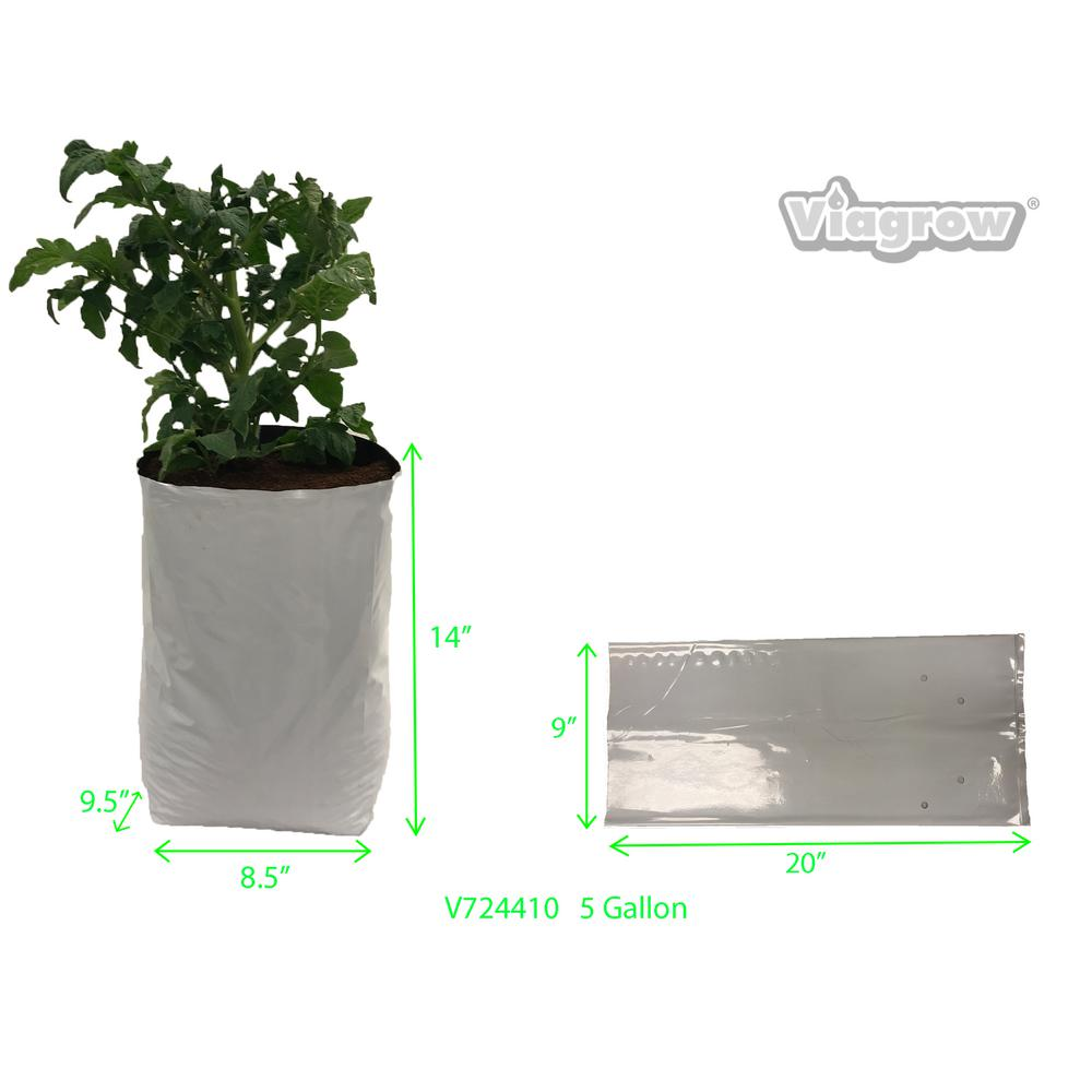 ROOT POUCH GROW BAGS 25 GAL HEAVY DUTY ROOT BAGS