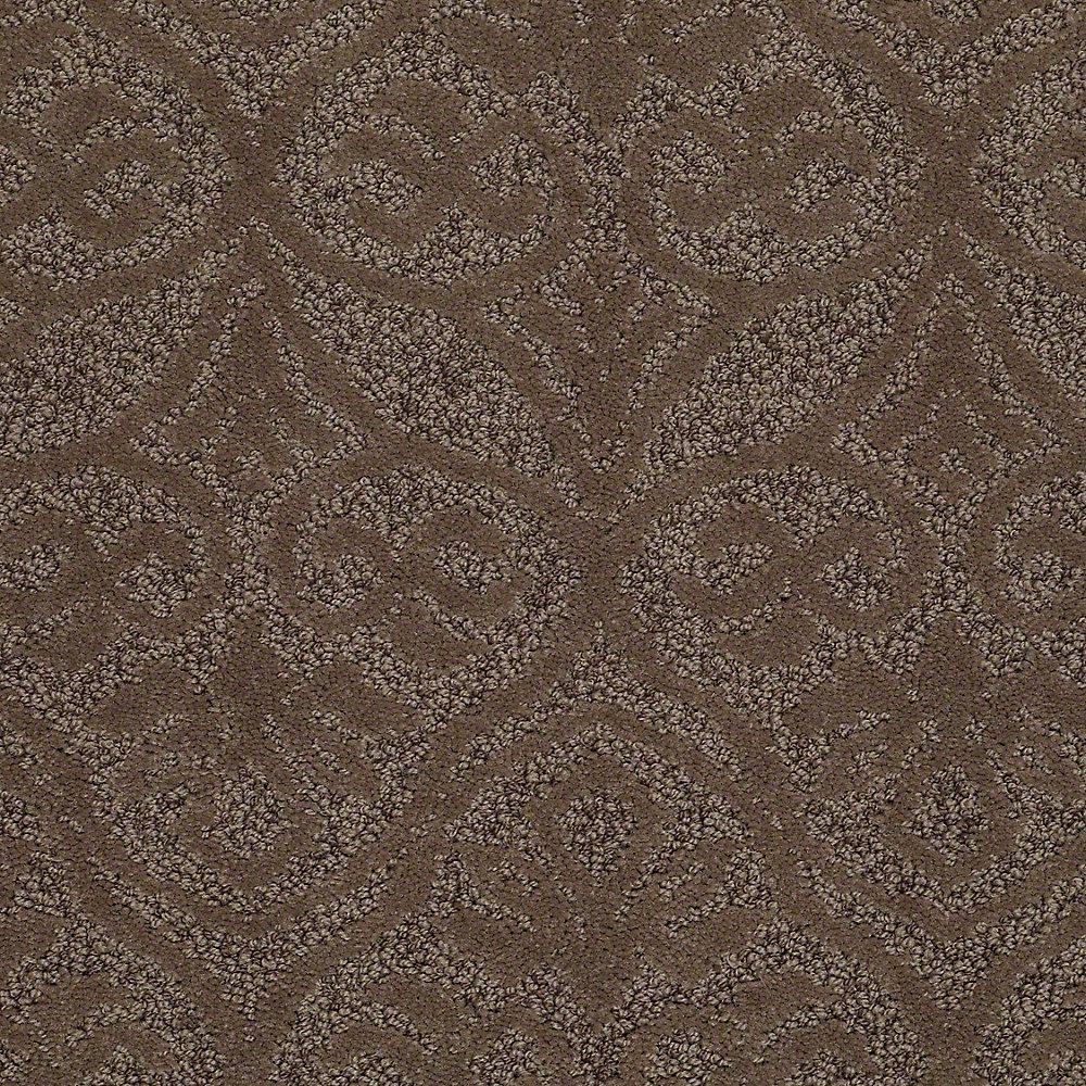 Platinum Plus Carpet Sample Perfectly Posh In Color Pecan 8 X