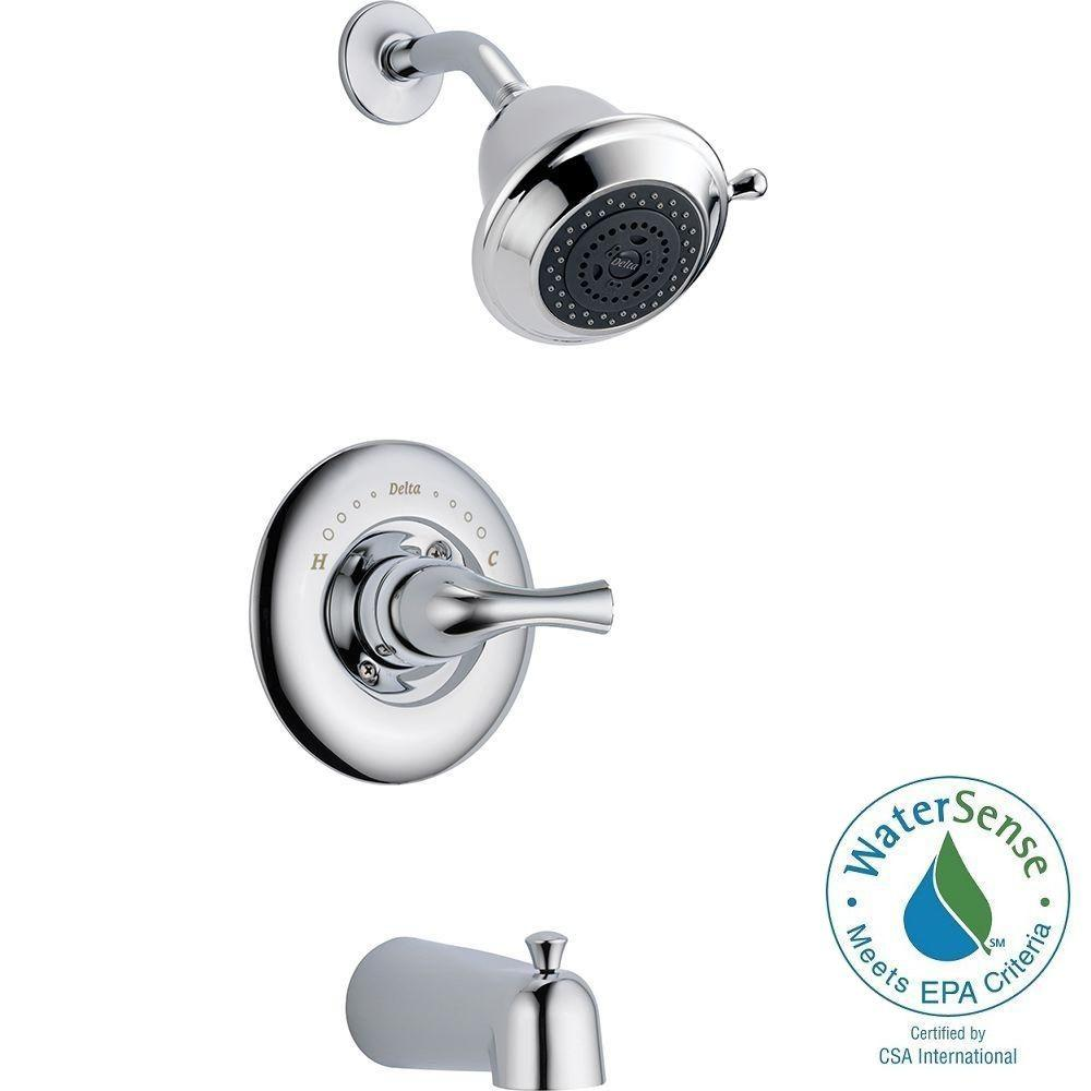Delta Single Lever Shower Faucet.Delta Classic Single Handle 3 Spray Tub And Shower Faucet In Chrome Valve Included