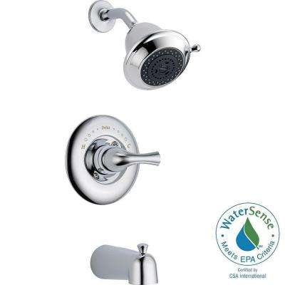 Classic Single-Handle 3-Spray Tub and Shower Faucet in Chrome