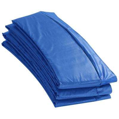 12 ft. W Blue Premium Trampoline Safety Pad Spring Cover Fits for 12 ft. Round Trampoline Frame