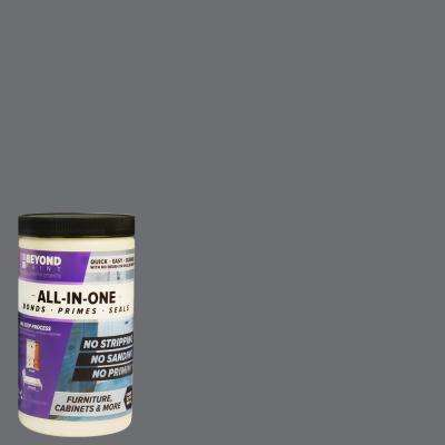 1 qt. Pewter Furniture, Cabinets and More Multi-Surface All-in-One Interior/Exterior Flat Refinishing Paint