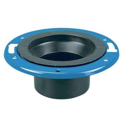 4 in. ABS DWV Spigot Adjustable Closet Flange with Plastic-Coated Steel