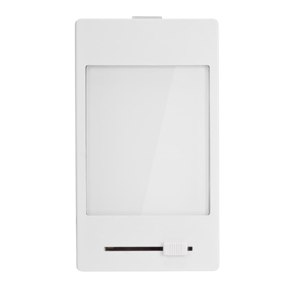 White Manual Dimming Panel LED Night Light