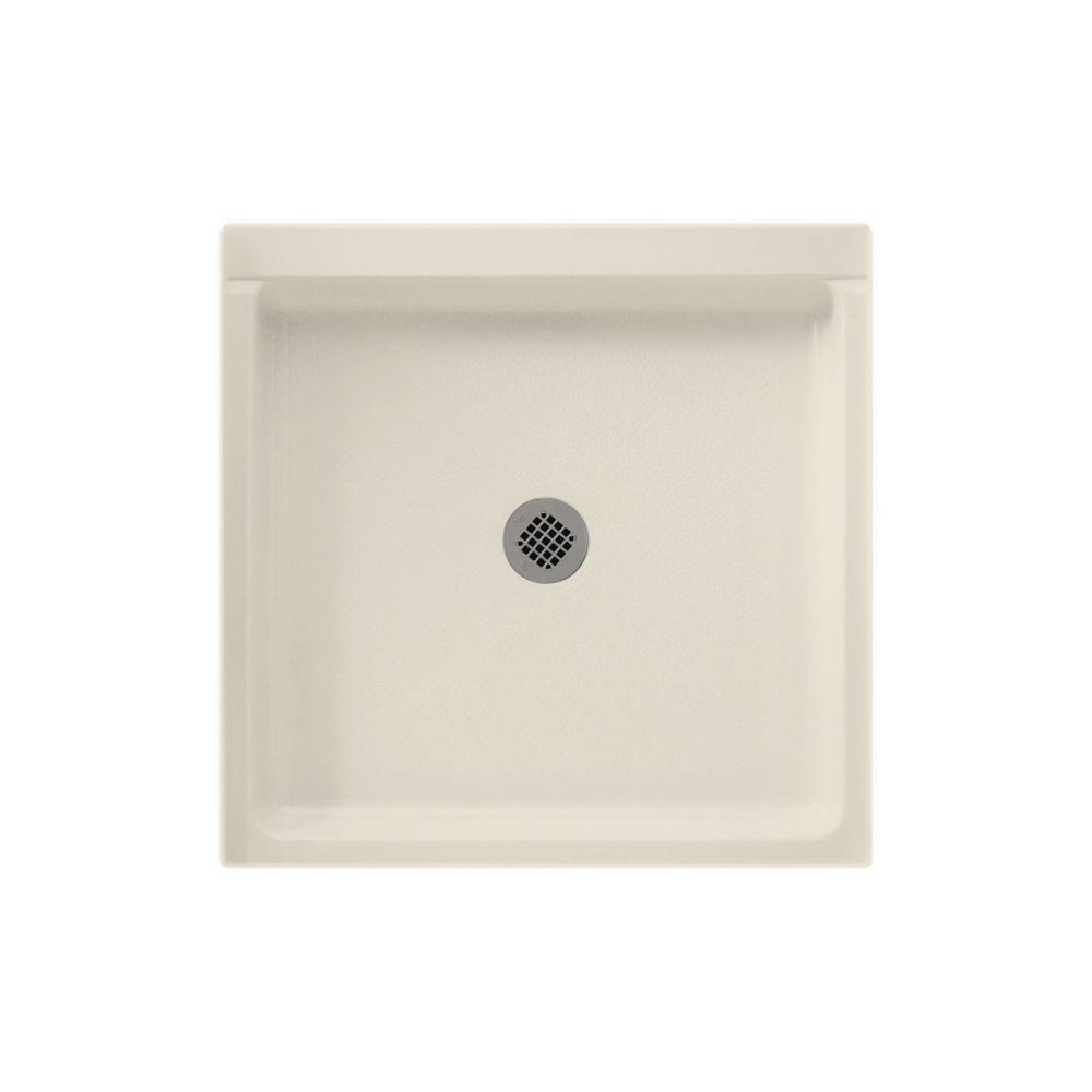 Swan 36 in. x 36 in. Solid Surface Single Threshold Shower Pan in Bone