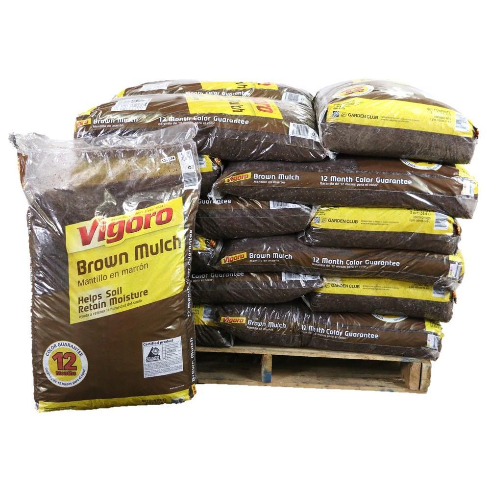 Vigoro 2 cu. ft. Brown Mulch (65 Bags / 130 cu. ft. / Pallet)