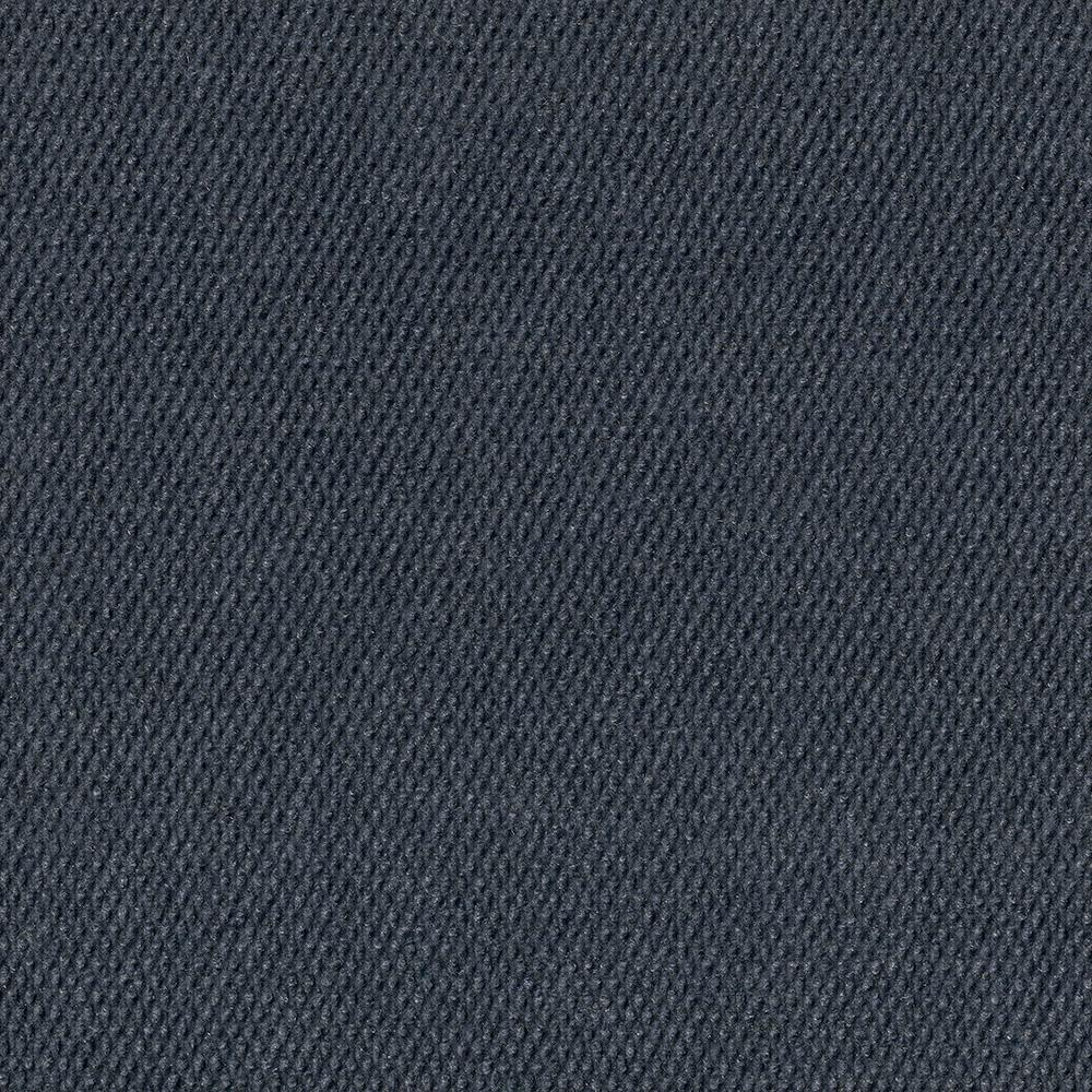 Foss Peel and Stick Inspirations O. Blue Hobnail 18 in. x 18 in. Residential Carpet Tile (16 Tiles/Case)
