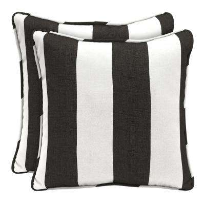 Sunbrella Cabana Classic Square Outdoor Throw Pillow (2 Pack)