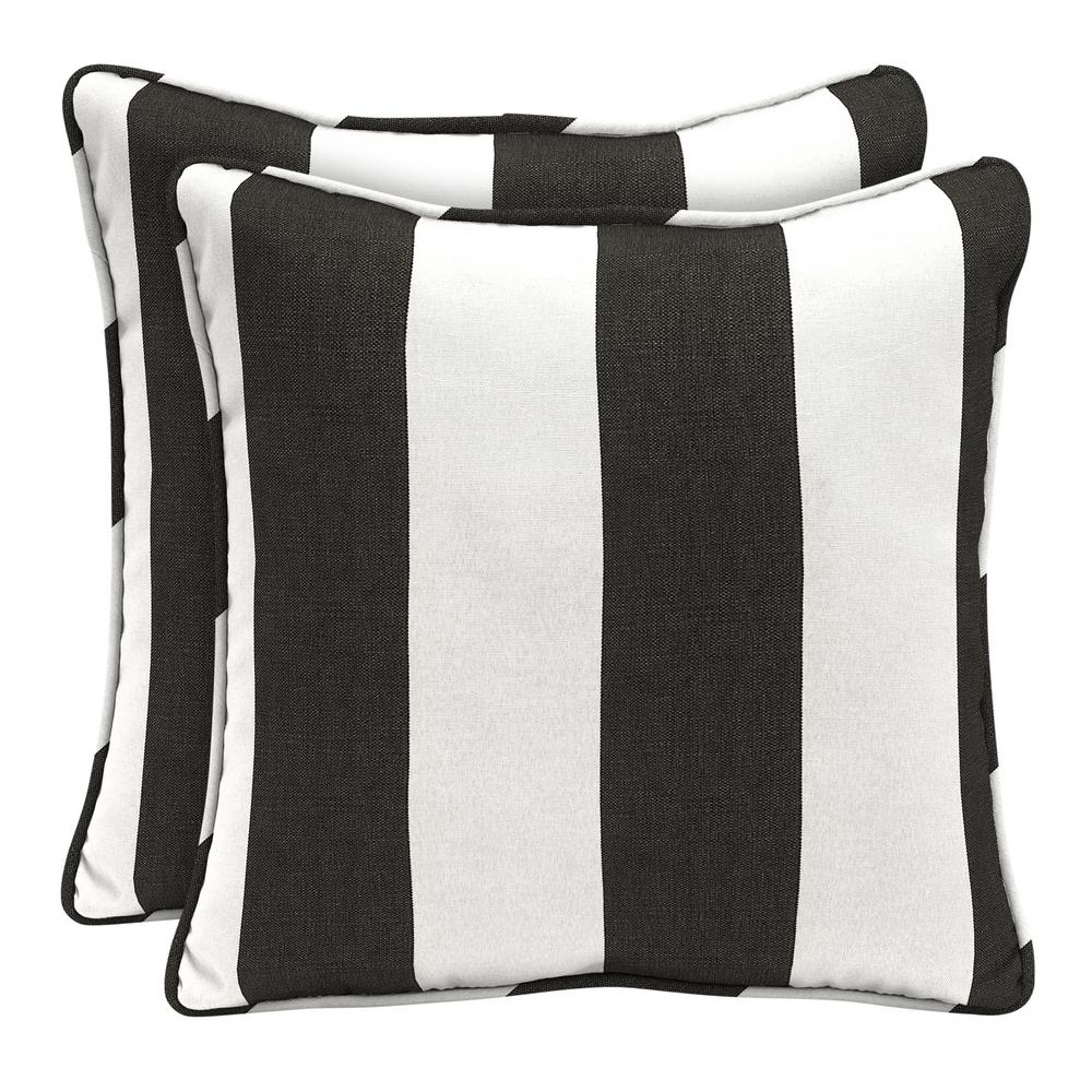 Home Decorators Collection Sunbrella Cabana Clic Square Outdoor Throw Pillow 2 Pack