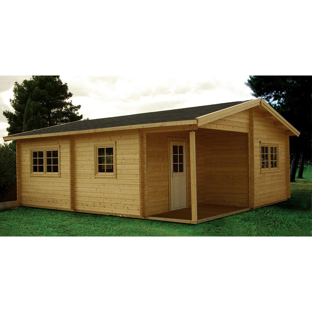 garden home office outdoor wood log hobby workshop office extra space ez structures montana 12 ft in 18 10 garden