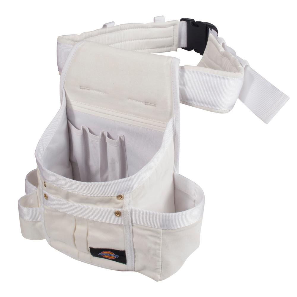 8-Pocket Utility Pouch Construction Tool Holder in White