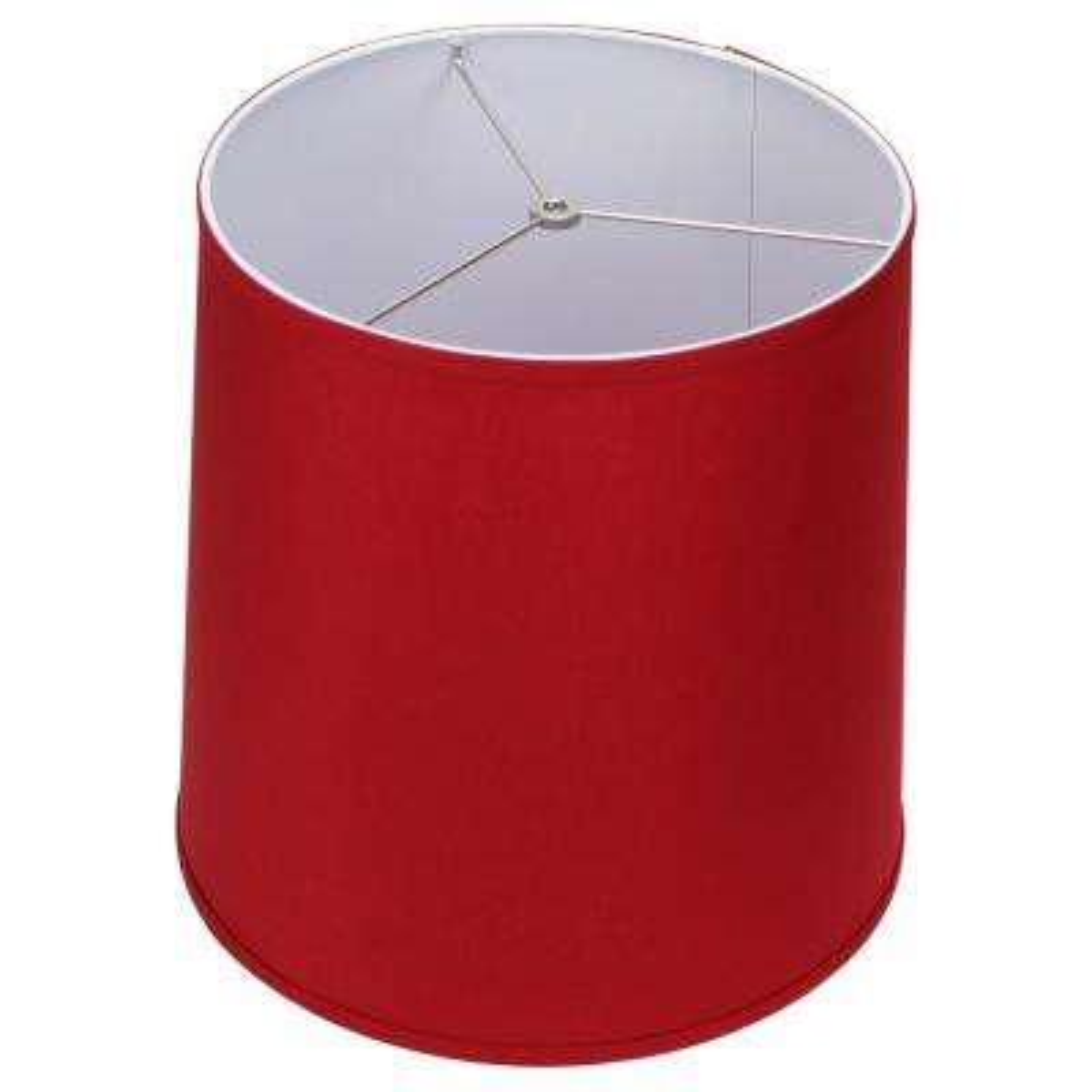 Fenchel Shades 13 in. Top Diameter x 15 in. Bottom Diameter x 15 in. Slant,  Empire Lamp Shade - Linen Rich Red