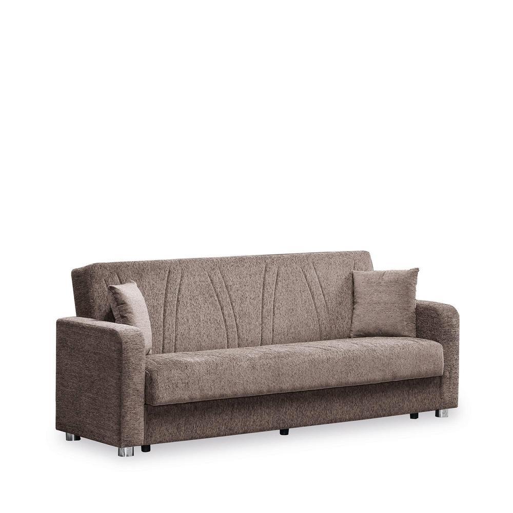 Ottomanson Elegance Beige Fabric Uphostery Sofa Sleeper