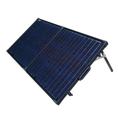 80-Watt Portable Monocrystalline Silicon Solar Panel for 12-Volt Charging in Briefcase Design