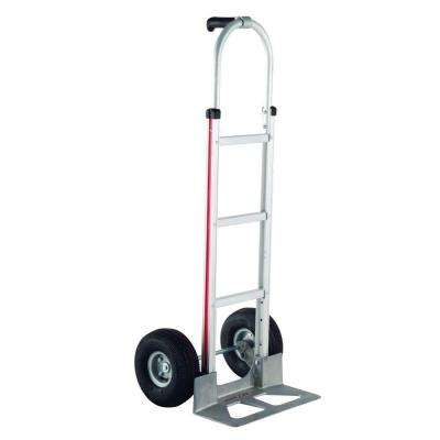 500 lb. Capacity Aluminum Modular Hand Truck with Single Pistol Grip Handles and Pneumatic Wheels