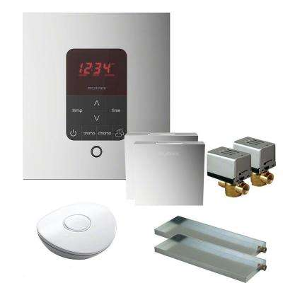 MS Butler 2 Package with iTempo Pro Square Programmable Control for Steam Bath Generator in Polished Chrome