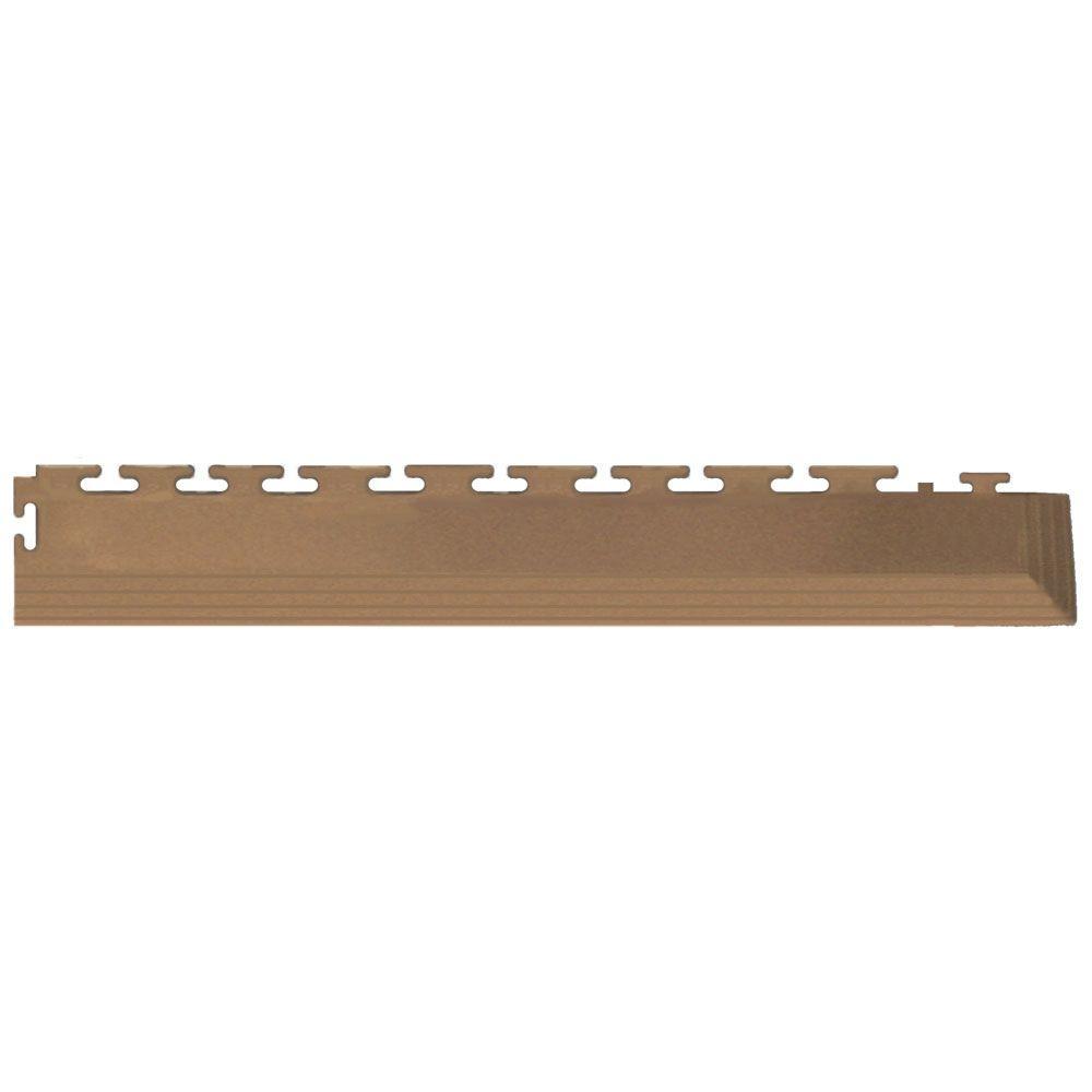 IT-tile Coin 2-1/2 in. x 23 in. Tan Vinyl Tapered Interlocking Flooring Corners (7 sq. ft./case)