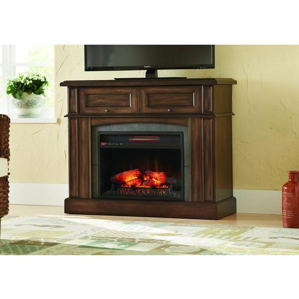 Brown Fireplace Mantel : Home decorators collection bellevue park in mantel