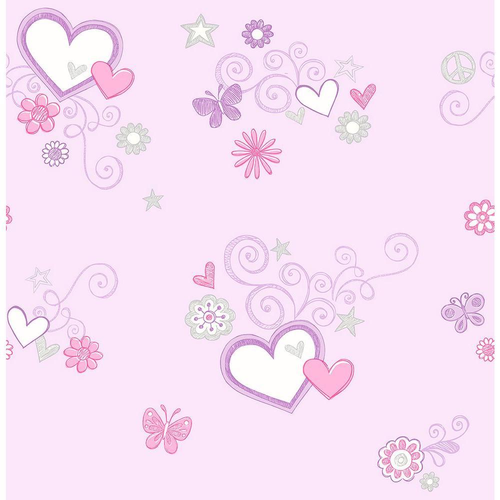 Lilac Heart Wallpaper