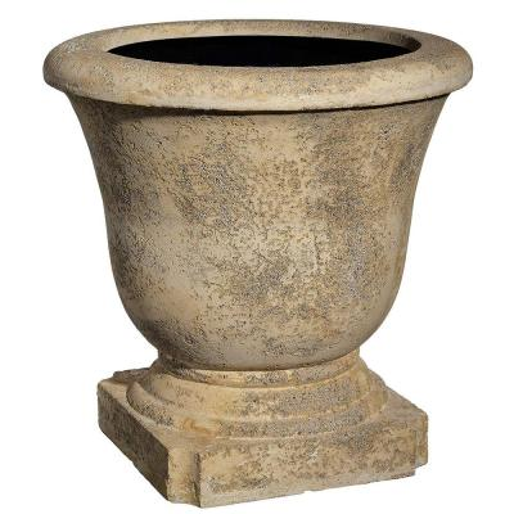 22 in. Natural Elegant Lava Stone Urn Planter