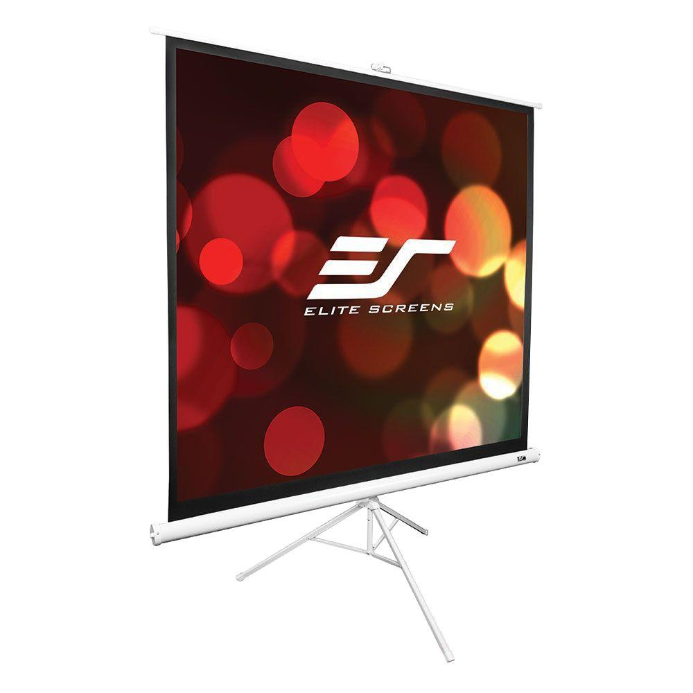 Elite Screens Tripod Series 113 In Diagonal Portable Projection Screen With 1 1 Ratio T113nws1 The Home Depot