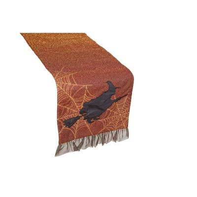 0.2 in. H x 13 in. W x 108 in. D Halloween Witching Hour Table Runner