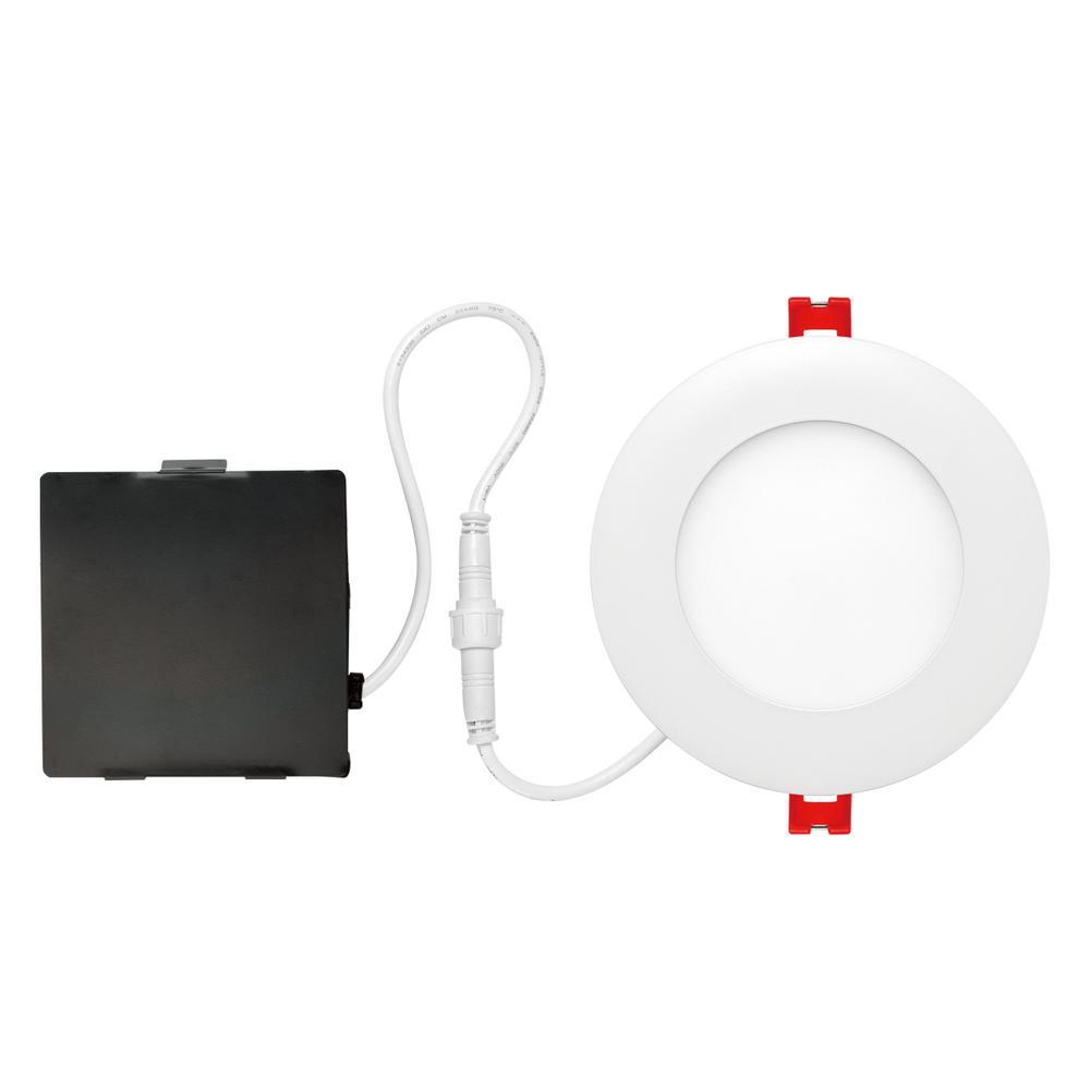 Globe Designer Ultra Slim 4 In White Integrated LED Recessed Kit