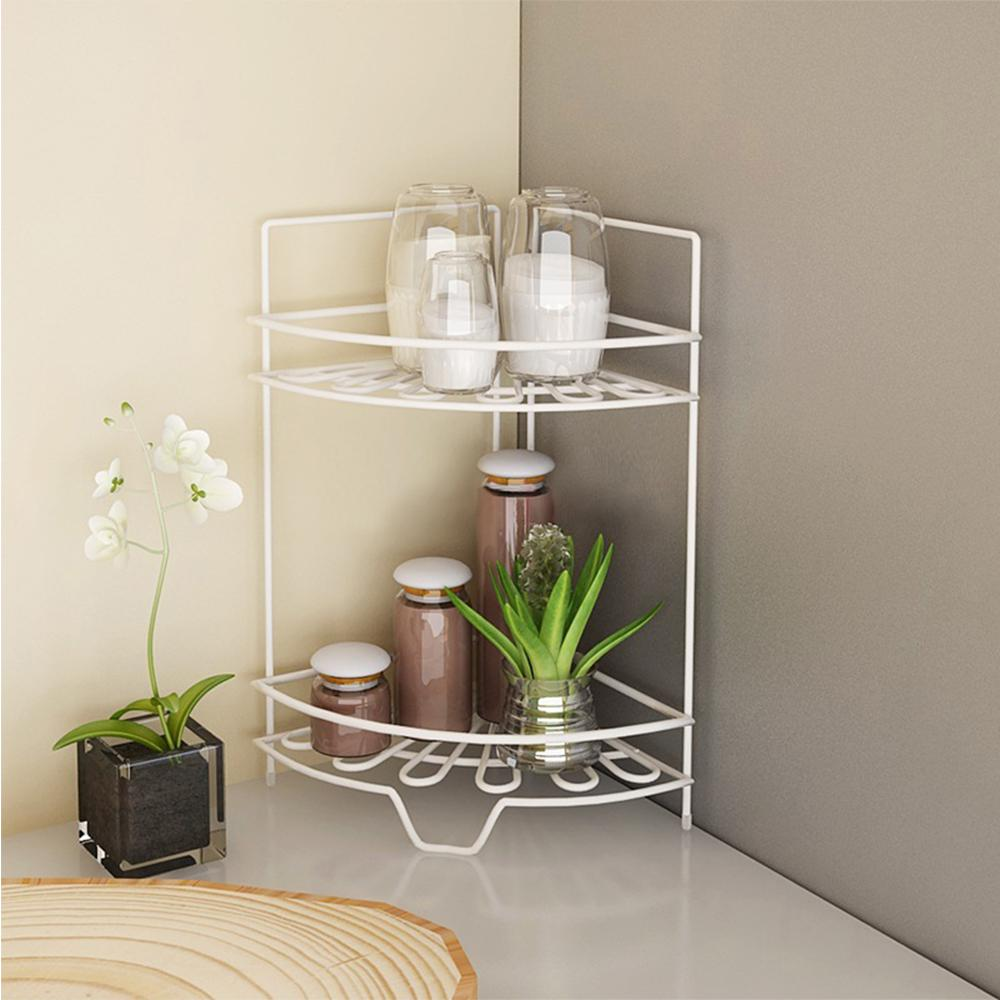 Furinno Balmain 2 Shelf Metal Kitchen Corner Shelf