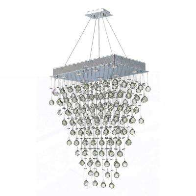 Icicle 8-Light Chrome with Clear Crystal Chandelier
