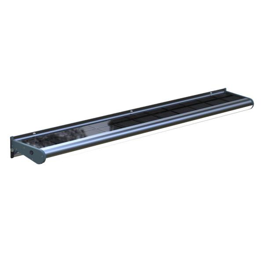 Solar Powered 20-Watt Gray Outdoor Integrated LED Wall Flood, Billboard Sign A.D. Light, Dusk to Dawn for Buildings, HOA