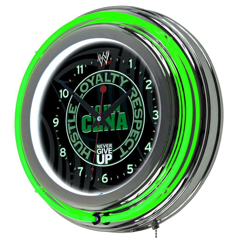 Trademark 14 in. WWE John Cena Neon Wall Clock