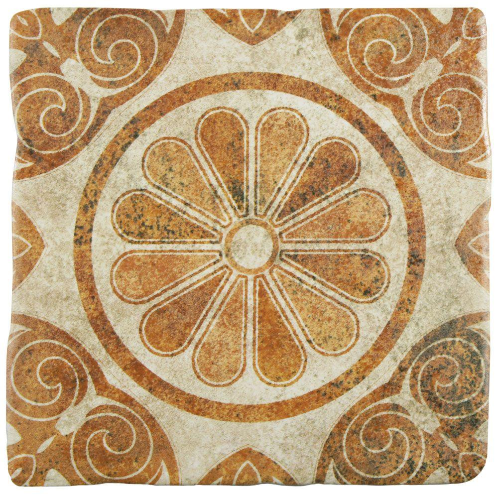 Merola tile costa arena decor daisy 7 34 in x 7 34 in ceramic merola tile costa arena decor daisy 7 34 in x 7 34 in ceramic floor and wall tile 115 sq ft case feb8cad4 the home depot dailygadgetfo Image collections