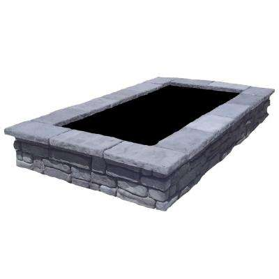 107 in. Random Gray Rectangular Concrete Planter