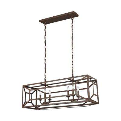 Marquelle 6-Light Weathered Iron Chandelier