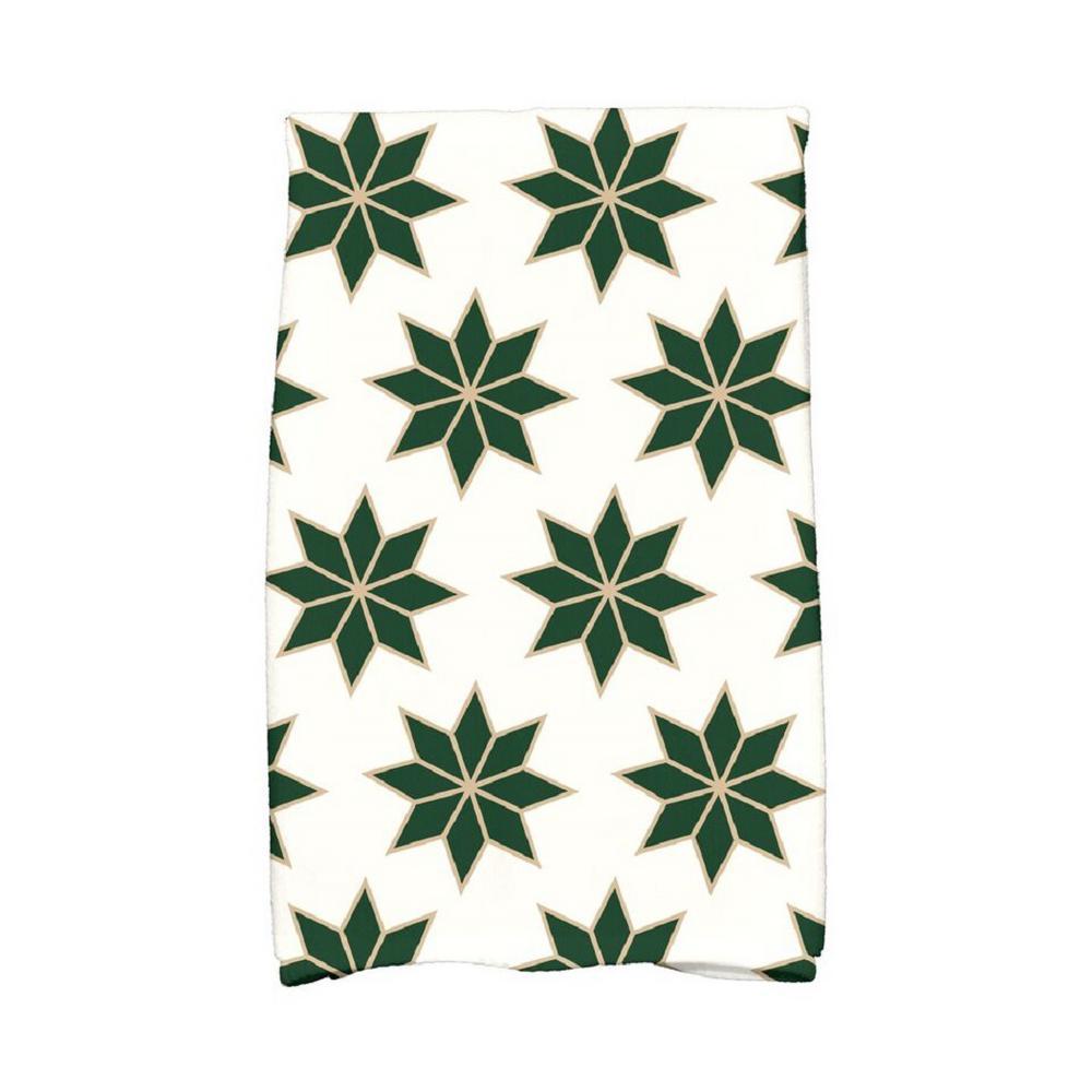 Click here to buy  16 inch x 25 inch Dark Green Christmas Stars-2 Holiday Geometric Print Kitchen Towel.