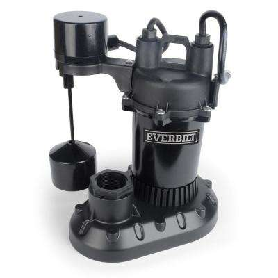 1/2 HP Submersible Aluminum Sump Pump with Vertical Switch