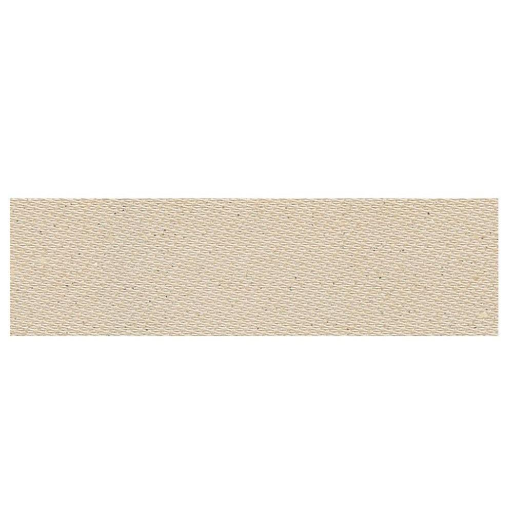 Daltile Identity Bistro Cream Fabric 4 in. x 12 in. Polished Porcelain Bullnose Floor and Wall Tile