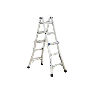 13 ft. Reach Aluminum Telescoping Multi-Position Ladder with 250 lb. Load Capacity Type I Duty Rating