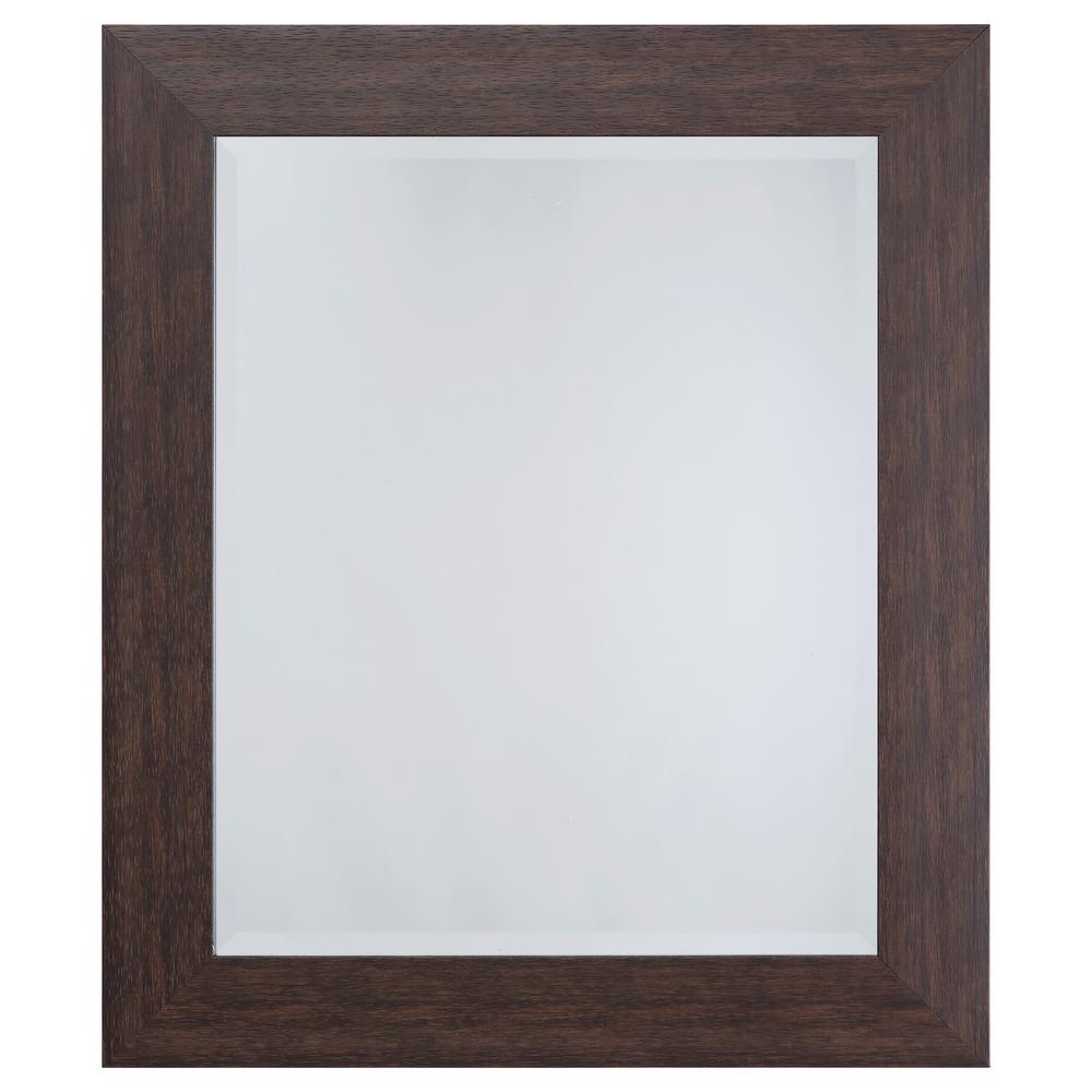 Yosemite Home Decor Mirror with Espresso Frame Adorn your home with this beautiful mirror that also serves as a lovely wall ornament. The glass glistens while the frame displays an Espresso color that will compliment any living space. Take this piece of decor home to enjoy today.
